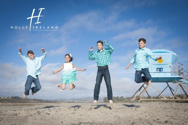 carlsbad family beach photography at south ponto beach ca
