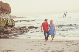 Romantic engagement photography in La Jolla