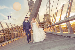San Diego bridge wedding photography