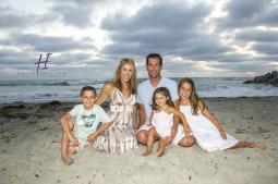 San Diego family beach sunset photos
