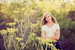 high school senior in a field