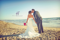Coronado beach wedding photographer and photos with a bride and groom