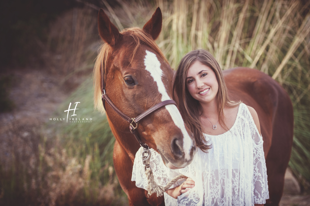 San Diego High School Senior Photography Of Ally And Her Horse
