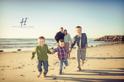 fun creative family beach photos in San Diego California