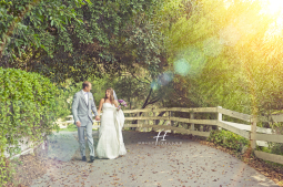 Green Gable Estate San Marcos creative wedding bride and groom photos