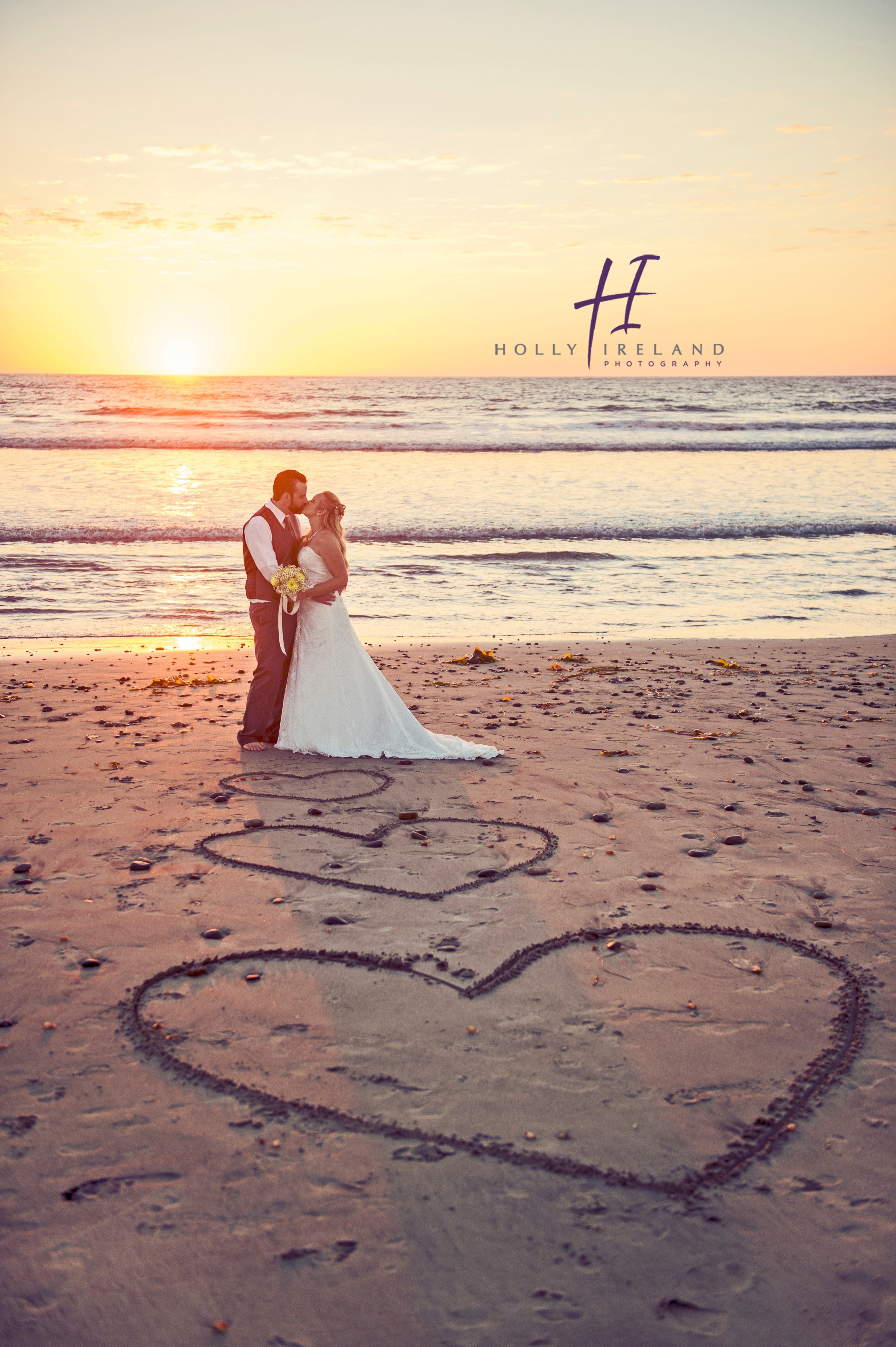 Carlsbad Wedding beach photos at sunset