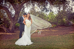Maderas Golf Course Wedding with an amazing Veil in San Diego
