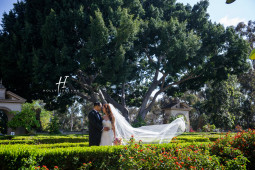 Elegant and Classic wedding photos in Balboa Park Prado San DIego CA