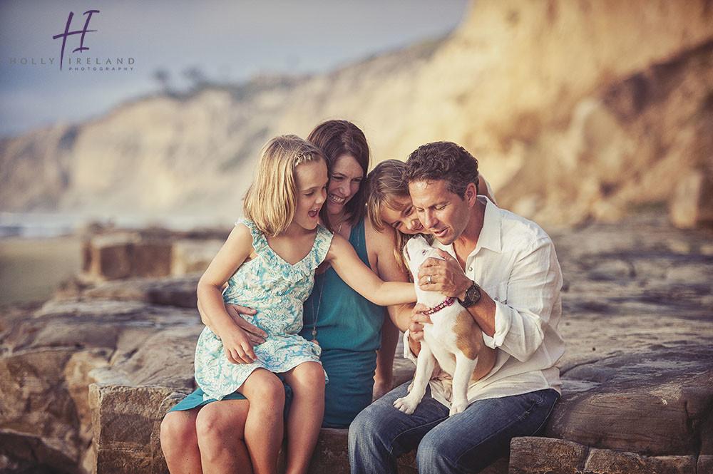 San Diego Sunset Beach Family Photographer