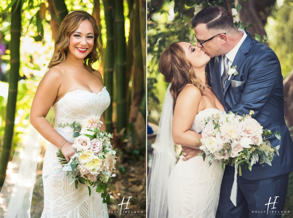 San Diego Botanic Garden Wedding Photos Of Laura And Hale
