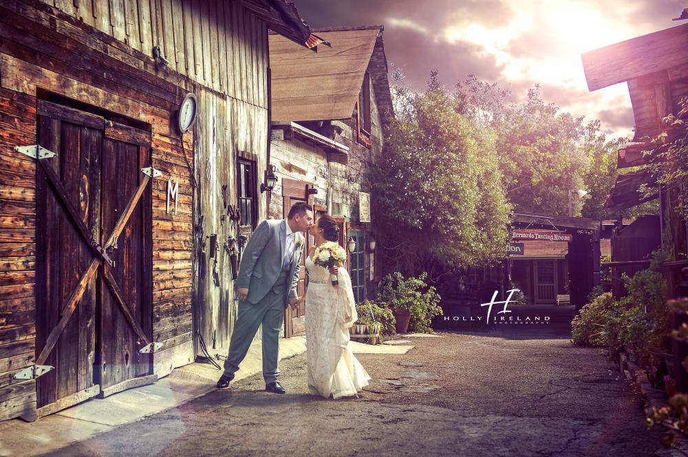 Rustic Bride And Groom Rancho Bernardo